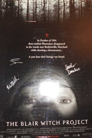 Sign Here Autographs 4355 Blair Witch Project In-Person Autographed Poster from Sign Here Autographs