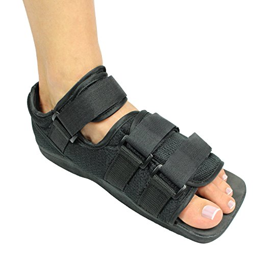 Vive Post Op Shoe - Lightweight Medical Walking Boot w/Adjustable Straps - Post Injury Surgical Foot Cast - Durable Square Toe Orthopedic Support Brace for Broken Bones - Men, Women Fracture Recovery
