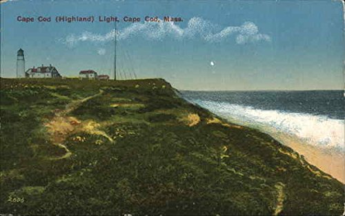 - Cape Cod Highland Light Cape Cod, Massachusetts Original Vintage Postcard