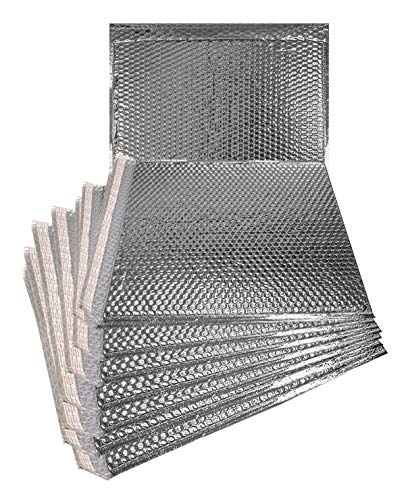 ABC 20 pack Metallic Bubble mailers 6 x 6.25. Silver padded envelopes 6 x 6 1/4. Glamour bubble mailers. CD size. Peel & Self Sealing cushion packaging mailers. Poly mailing, packing, wrapping.