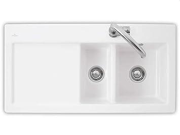 Lavello Cucina Ceramica Incasso.Villeroy Boch Subway 60 Xr Elegante Bianco Ceramica