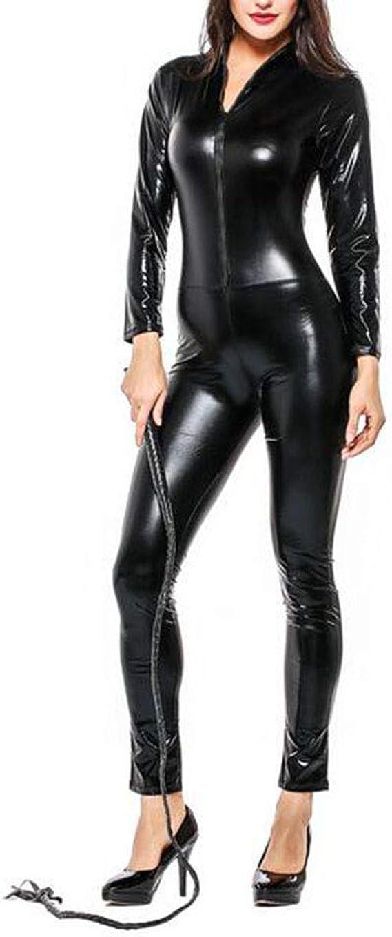 Catsuit Catwoman Mono Cuero de la PU Catwoman Disfraz Partido de ...
