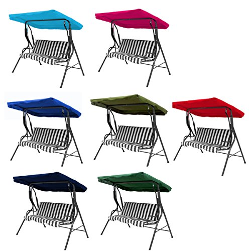 dDanke 2 3 Seater Polyester Fabric Garden Swing Chair Canopy Cover Porch Top Cover Heavy Duty UV Block Sun Shade Waterproof Outdoor by dDanke