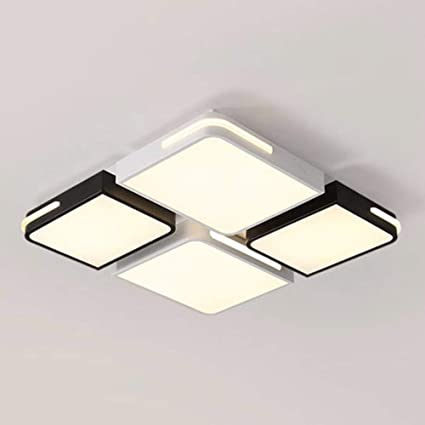 Gff Ceiling Light Roof Lamp Tieyi Square Living Room Lamp Bedroom Lamp Black And White Led Lighting Amazon Co Uk Kitchen Home