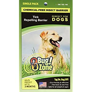 0Bug!Zone Dog Tick Barrier Tag, Single Pack 74