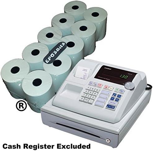 EPOSBITS® - 10 rollos para caja registradora Casio 130CR 130 CR ...
