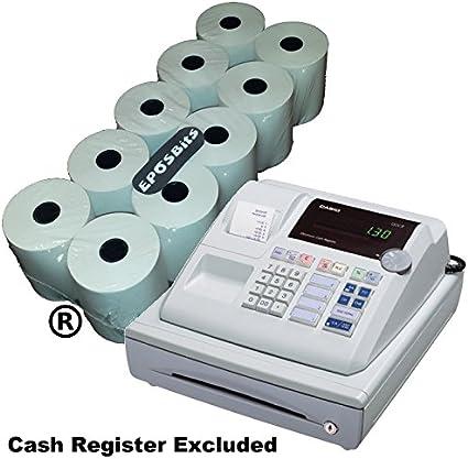 EPOSBITS® - 10 rollos para caja registradora Casio 130CR 130 CR: Amazon.es: Oficina y papelería