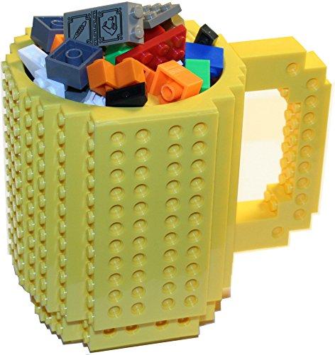 Lego Format Mug Cup Build-on Brick Mug, Pieces Included, Lego Style Puzzle Mugs, Building Blocks Milk Hot Coco Water Bottle Coffee Mug, Winter Decorative Mug Vase