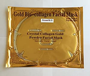 DreamMi? 10 Pieces 24k Gold Bio-Collagen Face Facial Mask, Anti Wrinkles/Aging, Repair Skin, High Moisture, By DreamMi