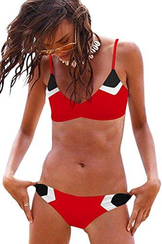 Womens Two Pieces Bathing Suits Swimsuits Sexy Bikini Set String Bikinis Swimwear Women -