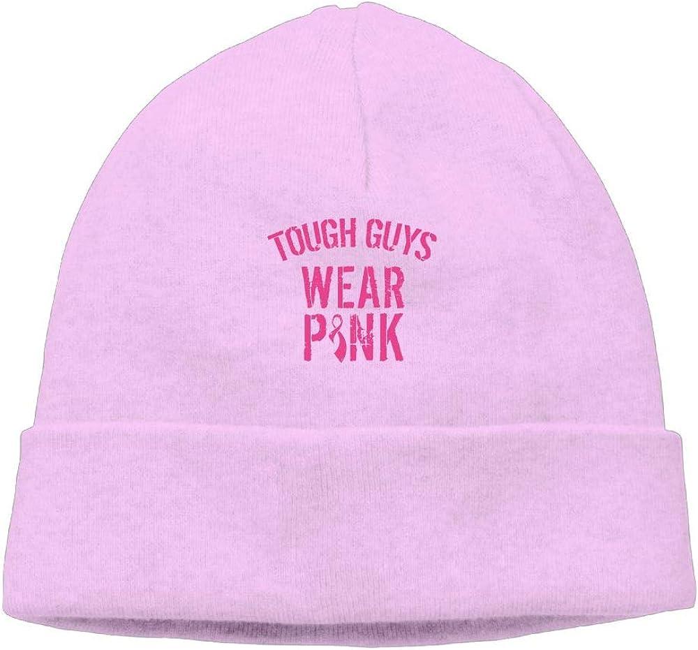 Michgton Beanie Hat Knit Hats Winter Warm Classic Tough Guys Wear Pink 4 Male