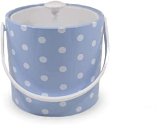 product image for Mr. Ice Bucket 730-1D Polka Dots Ice Bucket, 3-Quart, Baby Blue