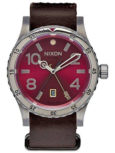Gunmetal Grey/Deep Burgundy The Diplomat Watch by Nixon