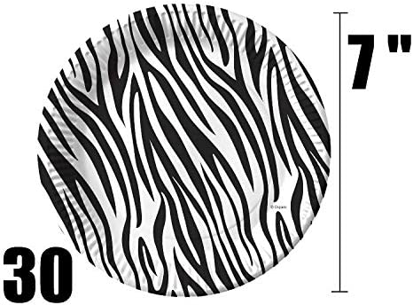 Zoo Baby Animals 7\u201d Dessert Plate Jungle Party Set of 8 Zoo Baby Shower Safari Party Zoo Animal Birthday