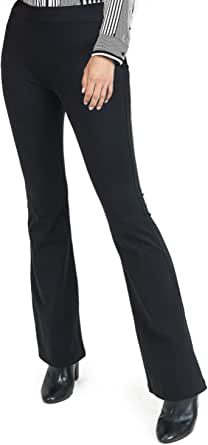 ICONOFLASH Women's High Waist Premium Cotton Leggings Flared Bootcut Yoga Pants