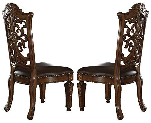 acme 60003 Vendome Side Chair, Cherry Finish, Set of 2