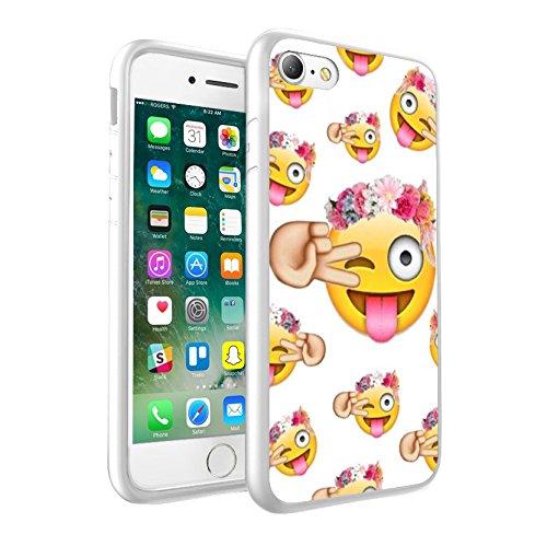 iPhone X étui Peau de couverture, Protection unique personnalisée couverture rigide mince Thin Fit PC Étui de protection résistant aux rayures Couverture pouriPhone X - Emoji 0017