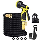 100 FT Garden Hose, Expandable Water Hose Multi-Function Spray Nozzle Double Latex Pipe,Detachable