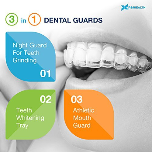 Professional Thin Fit Dental Guard - Pack of 4 - New Upgraded Anti Grinding Dental Night Guard, Stops Bruxism, Tmj & Eliminates Teeth Clenching by P & J Health (Image #2)