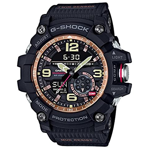 Casio Vintage Rose Gold Master of G GG1000RG-1A Black Rubber Analog Quartz Men'sWatch (Gshock Watches Master Of G)