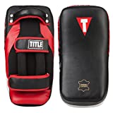 TITLE MMA Anatomical Thai Pads (Pair), Black/Red