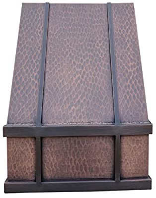 Copper Best H11 362142L Copper Kitchen Range Hood Wall Mount 36 inches with Liner and Internal 660CFM High Effeciency Motor