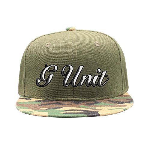 Websi Wihey G-Unit Flat-Brim Baseball Caps Unisex Adjustable Hat (G Unit Clothes)