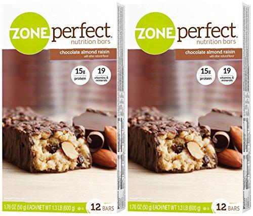 Zone Perfect Nutrition Bars - Chocolate Almond Raisin - 12 ct - 2 pk ()