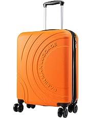 Cabin Max Velocity Trolley Rigido Cabin Size Leggero | Valigia con 4 Ruote in ABS Resistente 55x40x20 con Zip ESPANDIBILE a 55x40x25. Approvato per Voli Ryanair, EasyJet, BA
