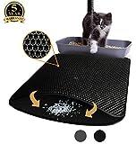 Aurrako Cat Litter Mat Trapper Mat, 75 x 58 cm Honeycomb Double Layer