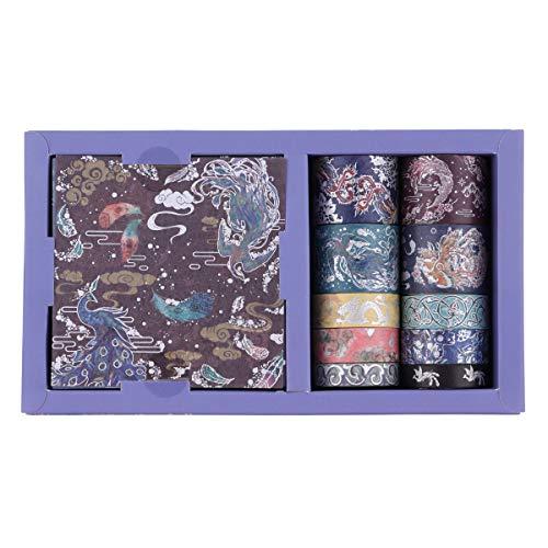 Set de cintas washi y hojas adhesivas diseno japones B