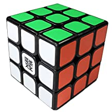 GoodPlay Moyu Aolong V2 Speed Cube 3x3 Enhanced Edition 3D Intelligence Smooth Brain Teaser Twist Puzzle Magic Cube Sticker Black + One Cube Bag