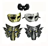 Cosplay Wolf Costume Mask Full Face Mask for Men Women (Color-2)