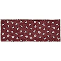 VHC Brands 16079 Multi Star Red Runner 13 x 36