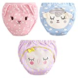 3 Pack Baby Girls' Animal Training Underpants Pee Training Pants Pink 2-3 Years