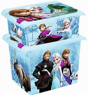 SET DE DOS MODA Caja Disney Frozen 20l+ 10l Caja de almacenamiento ...