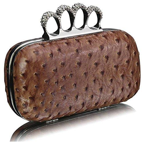 TrendStar - Cartera de mano para mujer Beige - carne
