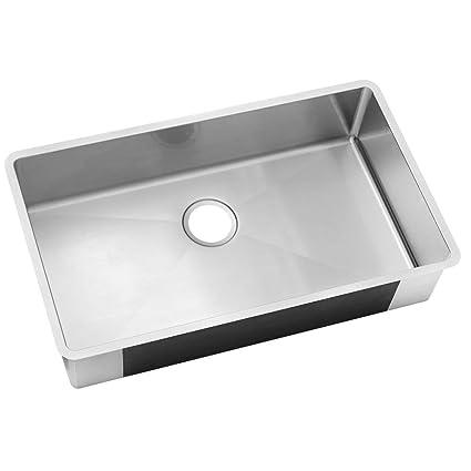 Elkay Undermount Stainless Steel 32 in. 0-Hole Single Bowl Kitchen ...
