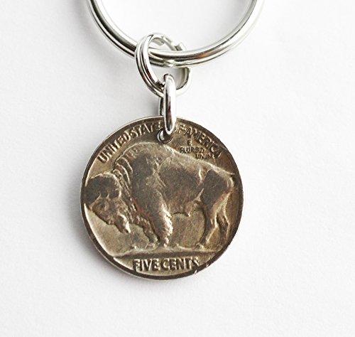 - Buffalo Nickel Key Ring, 1935 U.S. Coin Keychain