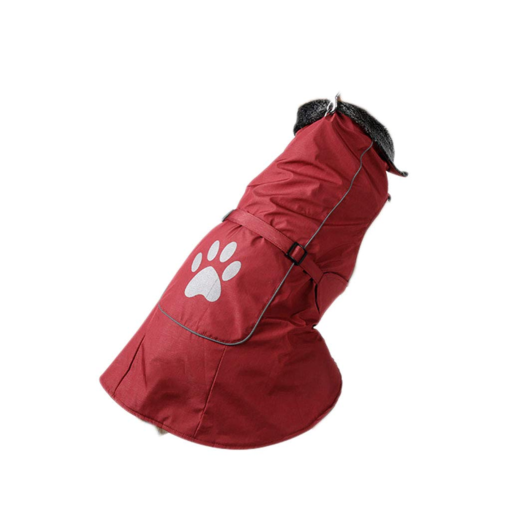 Red S Red S Dog Clothes Autumn and Winter Wear Thick Warm Waterproof Dog Raincoat Big Dog Winter Vest Pet Vest Large Dog (color   Red, Size   S)