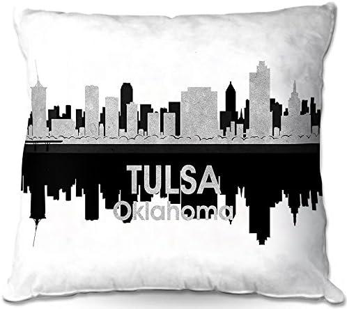 Dia Noche Designs, Outdoor Patio Couch Throw Pillow, 20 x 20 , ODP-AngelinaVickCityIVTulsaOK3