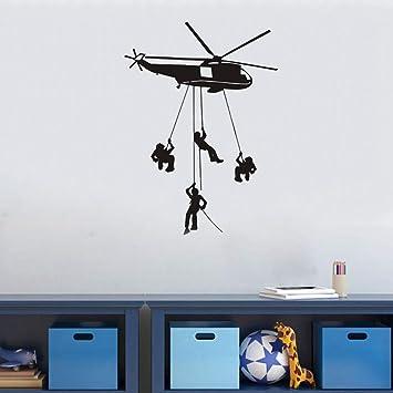 Military helicopter vinyl wall art sticker decor boy bedroom aviation home