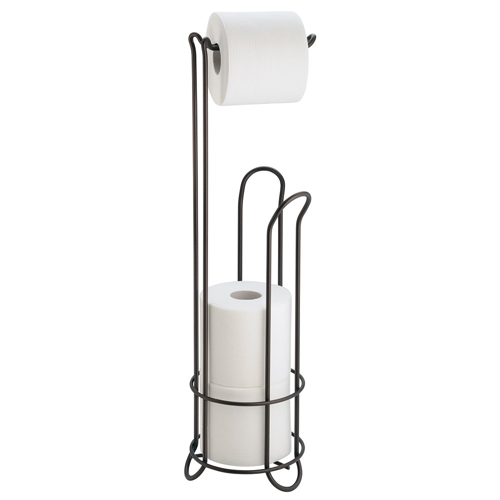 amazoncom interdesign classico free standing toilet paper holder for bathroom storage u2013 bronze home u0026 kitchen