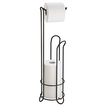 free standing toilet paper holder with shelf bathroom storage bronze home depot nickel freestanding