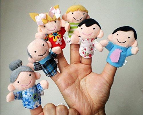 Toys R Us Dinosaur Costume (OVERMAL 6 Pcs Finger Even Storytelling Good Toys Hand Puppet For Baby's Gift)