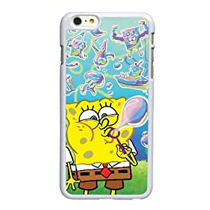 B0Q15 Bob Esponja R2P4EF funda iPhone 6 Plus 5.5 pufunda LGadas funda caja del teléfono celular cubren PI6RHU6RW blanco