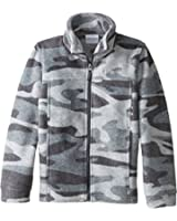 Columbia Kids Boy's Zing? III Fleece (Little Kids/Big Kids) Graphite Tweed Camo Sweatshirt 2XS (4-5 Little Kids)