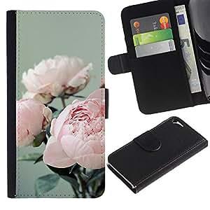 WINCASE Cuadro Funda Voltear Cuero Ranura Tarjetas TPU Carcasas Protectora Cover Case Para Apple Iphone 5 / 5S - 3d polígono arte del texto oscuro