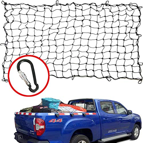 Aiqiying Cargo net,4'x6' Heavy Duty Bungee Spider Roof Net for Truck Tarp Bed Stretches to 8'x12',4x4 inch Mesh Net Small Large Cargo Nets
