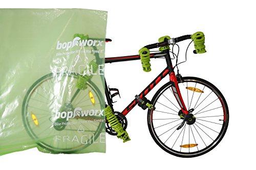 Bopworx Heavy Duty Bicycle Polythene Travel Bag - Ideal Cover For Bike Transportation and Storage by Bopworx (Image #2)